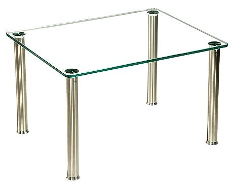 Tavolini Da Salotto Acciaio E Vetro.Tischdesign24 Albury318 Tavolino Da Salotto Con Lastra Di