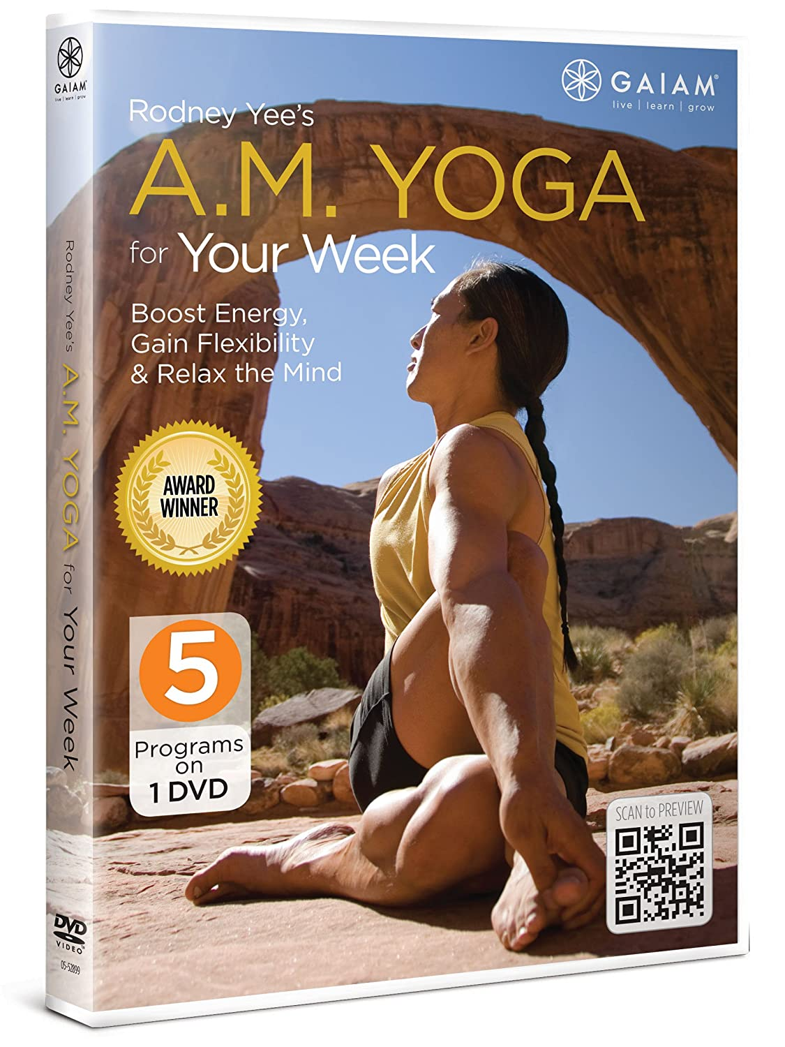 Amazon com: A M  Yoga for Your Week: Rodney Yee, Gaiam
