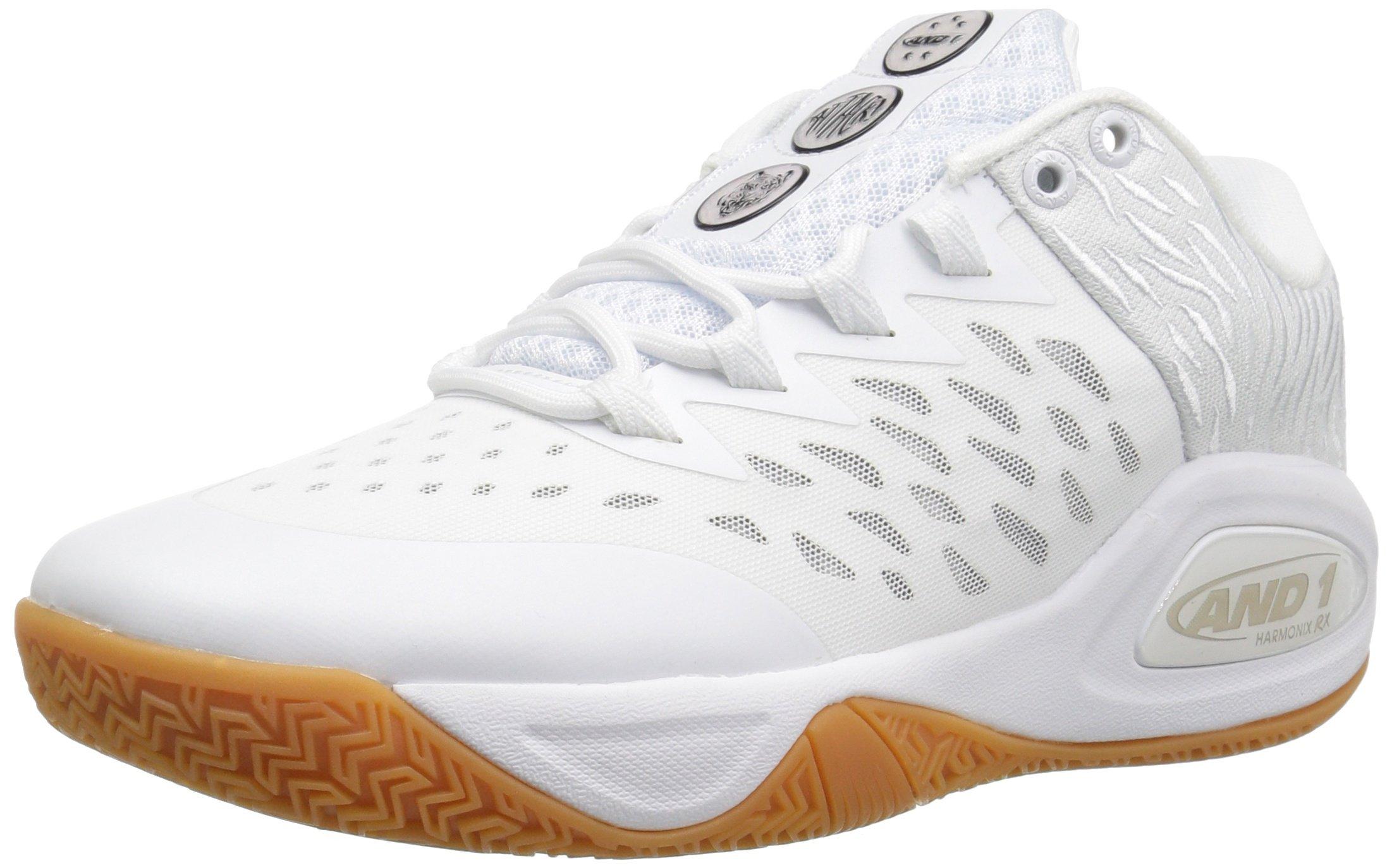 ba1ed2541c500 AND 1 Men's Attack Low Basketball Shoe, White/Super foil/Gum, 7 M US