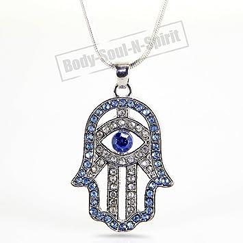 Amazon hamsa necklace hand of god sky evil eye charm pendant hamsa necklace hand of god sky evil eye charm pendant jewish judaica kabbalah aloadofball Choice Image