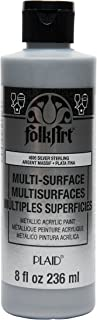 product image for FolkArt Multi Surface Specialty Effect Paint in Assorted Colors (8 oz), Metallic Sterling Silver