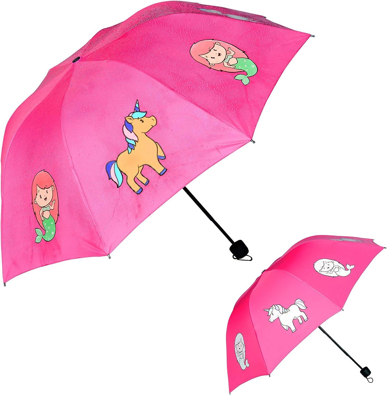 Umbrella Kid Cartoon Sun Protection Long Handle Umbrella Girl Boy School Gifts