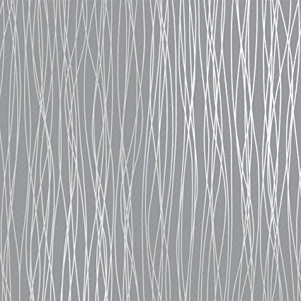 Mavee Non-Woven 3D Wallpaper, 20.8In x 32.8Ft Modern Print Embossed Stripe  Fashion Wallpapers for Livingroom, Bedroom, Kitchen and Bathroom, Silver ...