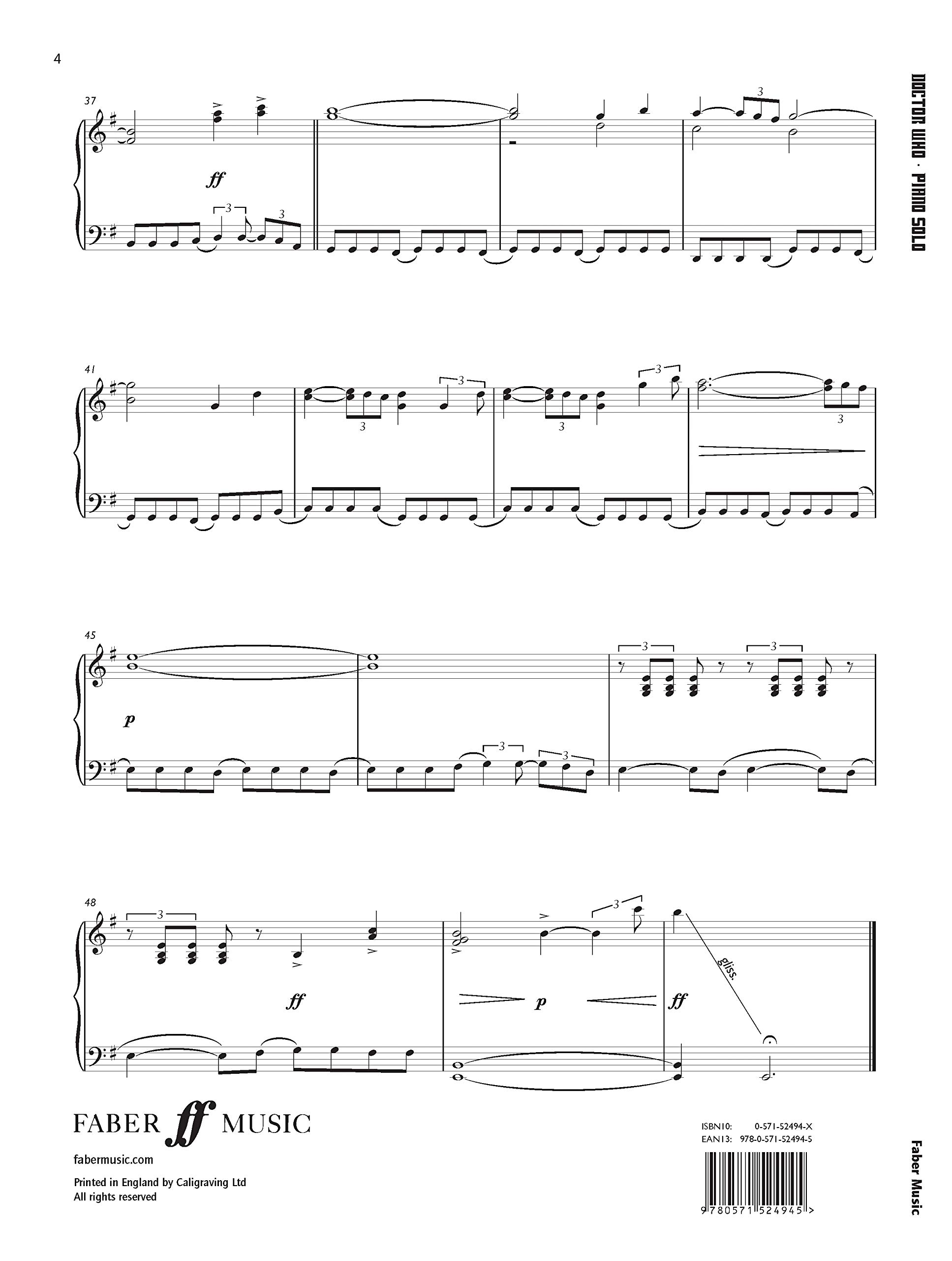 Doctor Who Theme: Piano Solo (Faber Edition): Amazon.es ...
