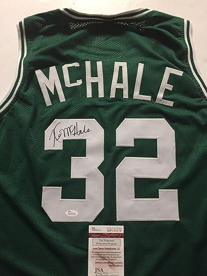 new concept ffaa4 8e5c2 Autographed/Signed Kevin McHale Boston Celtics Green ...