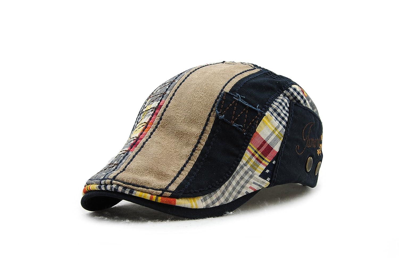Elwow Sombreros de Caza irlandeses, Sombrero de Newsboy, Sombrero de camión, Gorra de camión, Gorra de Caza, Gorra de Viaje, Sombrero de camión Claret-Red ...