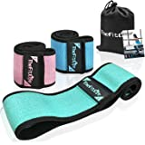 TheFitLife Resistance Bands for Legs and Butt - Fabric Resistance Bands Set for Women to Sculpt Desired Peach Shape…