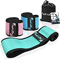 TheFitLife Resistance Bands for Legs and Butt - Fabric Mini Exercise Bands Circle for Booty, Hip, Glute Workout, Anti…