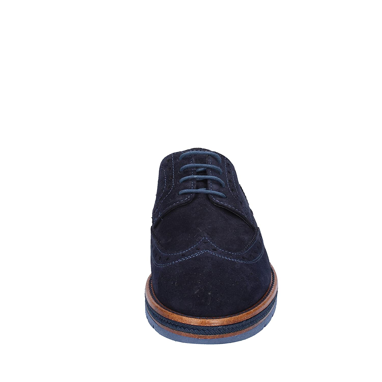 OSSIANI Chaussures de Ville à Lacets pour Homme Blu Bordeaux - - Blu Bordeaux, 41 EU EU