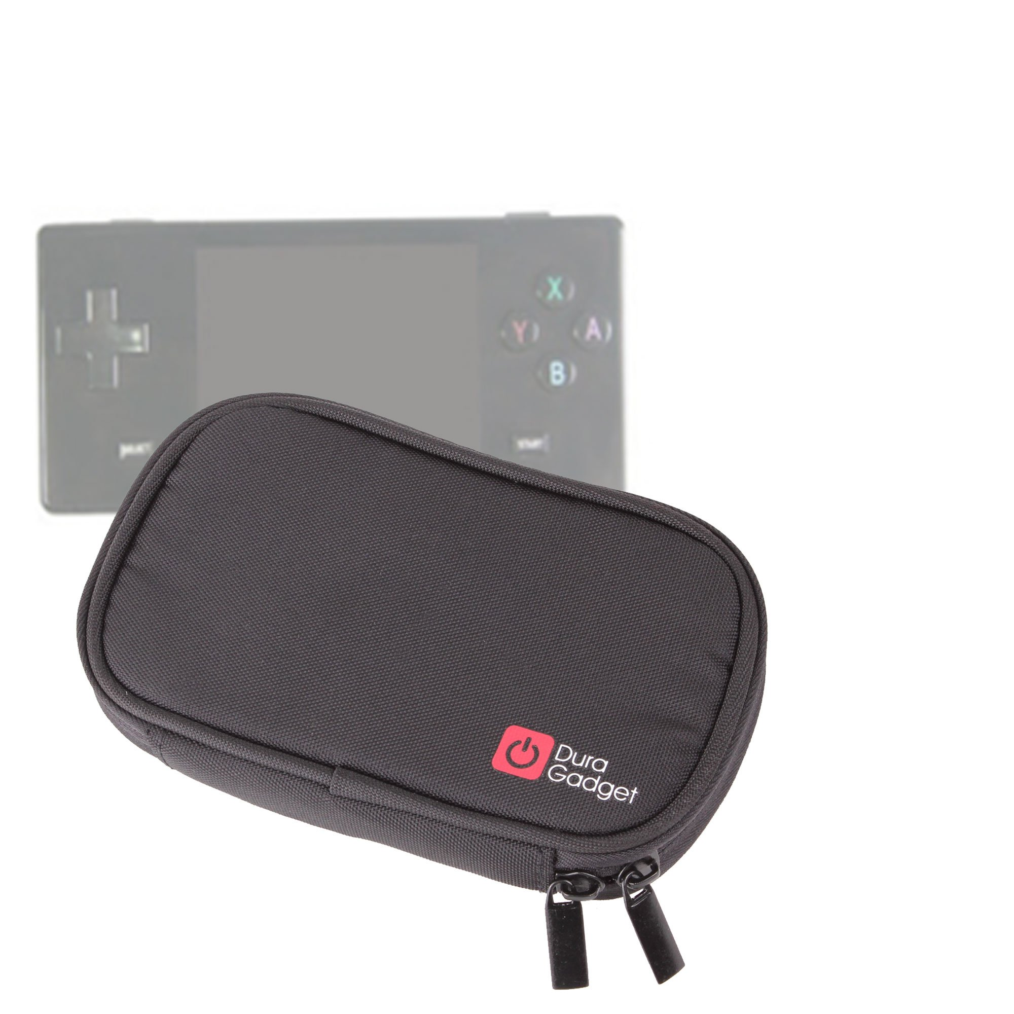 DURAGADGET Handy Dingoo Games Console Case - Premium Quality Water Resistant Memory Foam Travel Case with Dual Zips -s & Belt Loop for Dingoo A320, Dingoo A380 & Dingoo Gemei A330