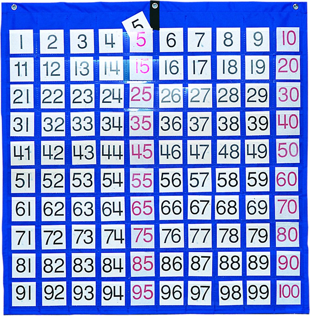 Carson-Dellosa Publishing CD-5604 Hundreds Pocket Chart with 100 Number Cards