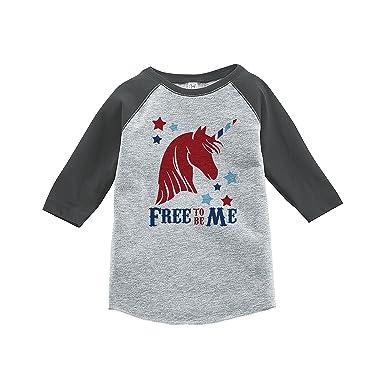 7 ate 9 Apparel Girls 4th of July Unicorn T-Shirt