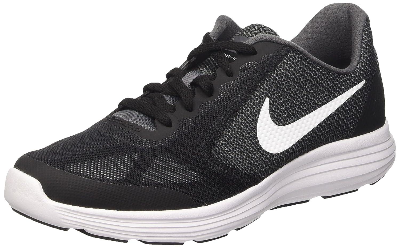 Nike Jungen Revolution 3 (GS) Lauflernschuhe Grau (Dark Grey/White-black-pr Pltnm)