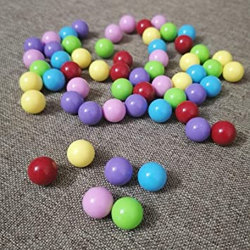 Hotusi 60 Pcs Chinese Checkers Marbles Balls in 6 Colors,14mm Game Replacement Marbles Balls for Marble Run Marbles Game