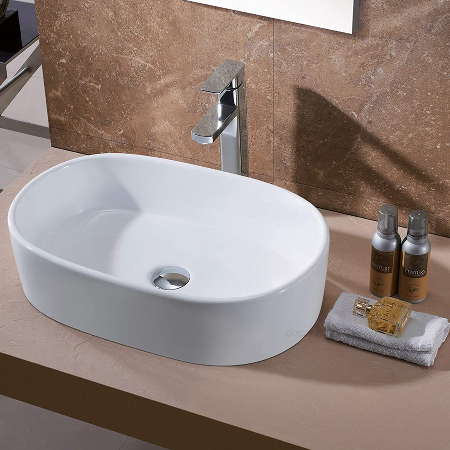 Luxier CS-002 Bathroom Porcelain Ceramic Vessel Vanity Sink Art Basin