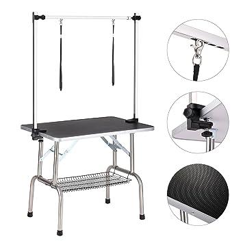 amazon com haige pet dog grooming table adjustable clamp overhead rh amazon com