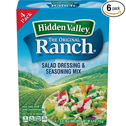 keto diet hidden valley ranch dip