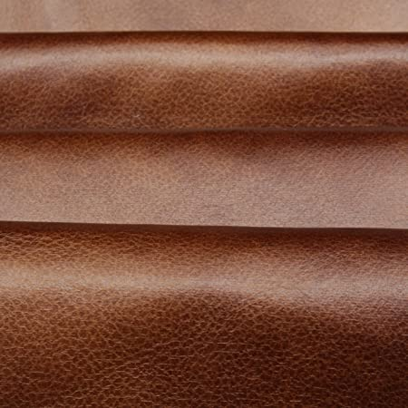 Tan Brown Distressed Antique Aged Brown Fire Retardant Faux Leather