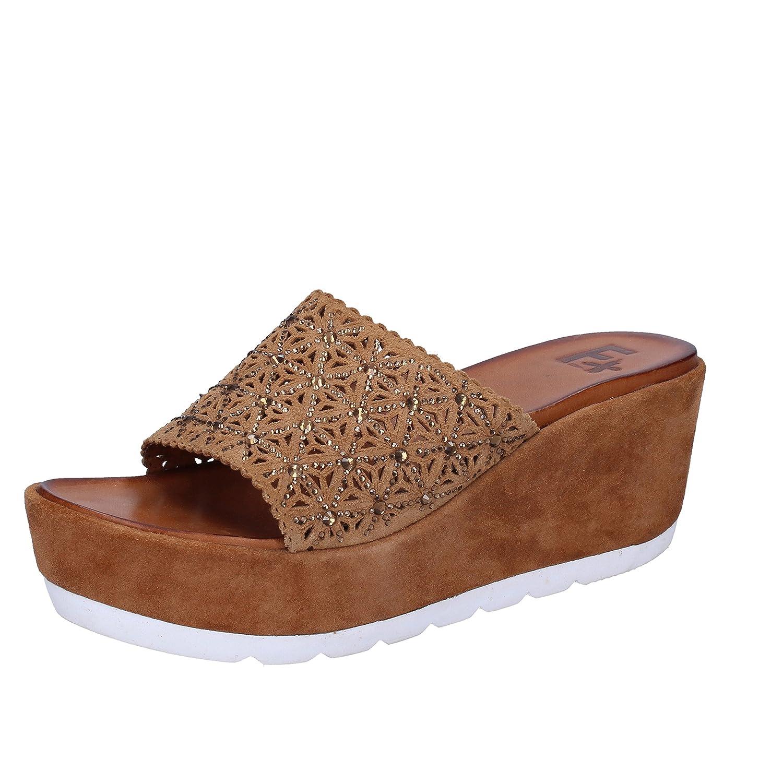 Femme Plus - Zapatillas de Estar por casa para Mujer 41 EU|Marrón