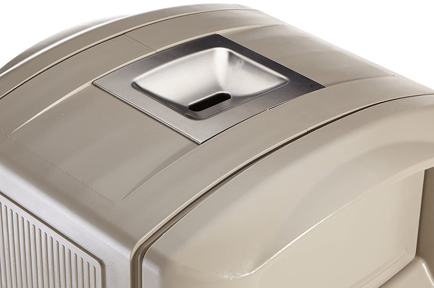 Beige Rubbermaid Commercial Landmark with Tray