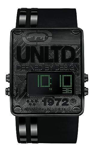 Marc Ecko E15092G2 - Reloj digital de cuarzo para hombre con correa de silicona, color negro: Amazon.es: Relojes
