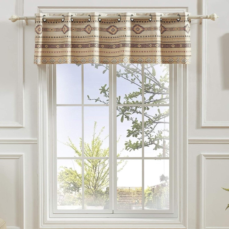 Barefoot Bungalow Phoenix Window Treatment, 84 W x 16 L (inches), Tan
