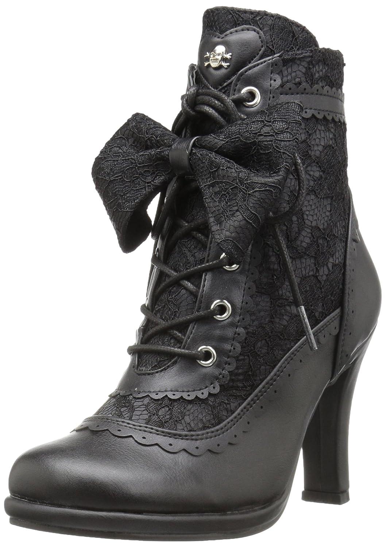 Demonia Women's Glam200/Bvl-Lc Boot B01LYTAXU8 6 B(M) US Black Vegan Leather-lace
