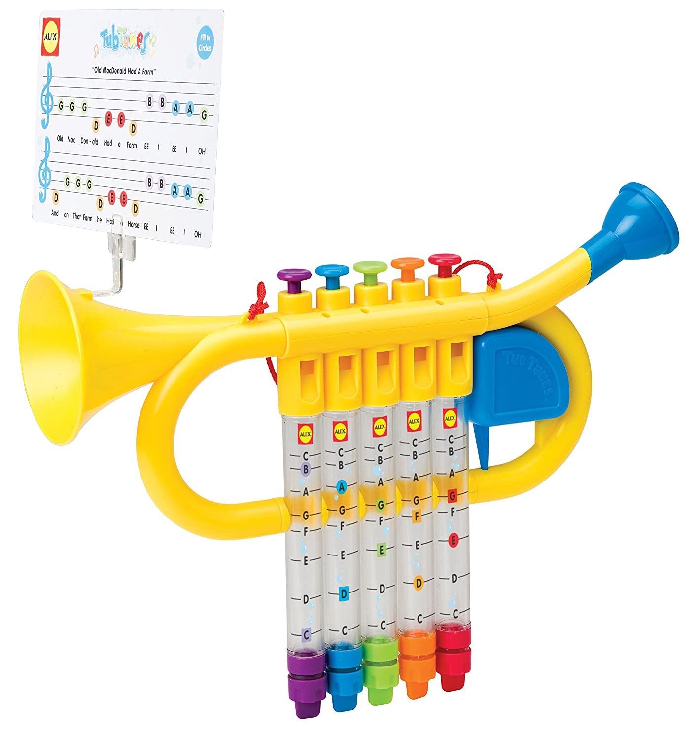 Amazon alex toys rub a dub water trumpet toys games sciox Choice Image