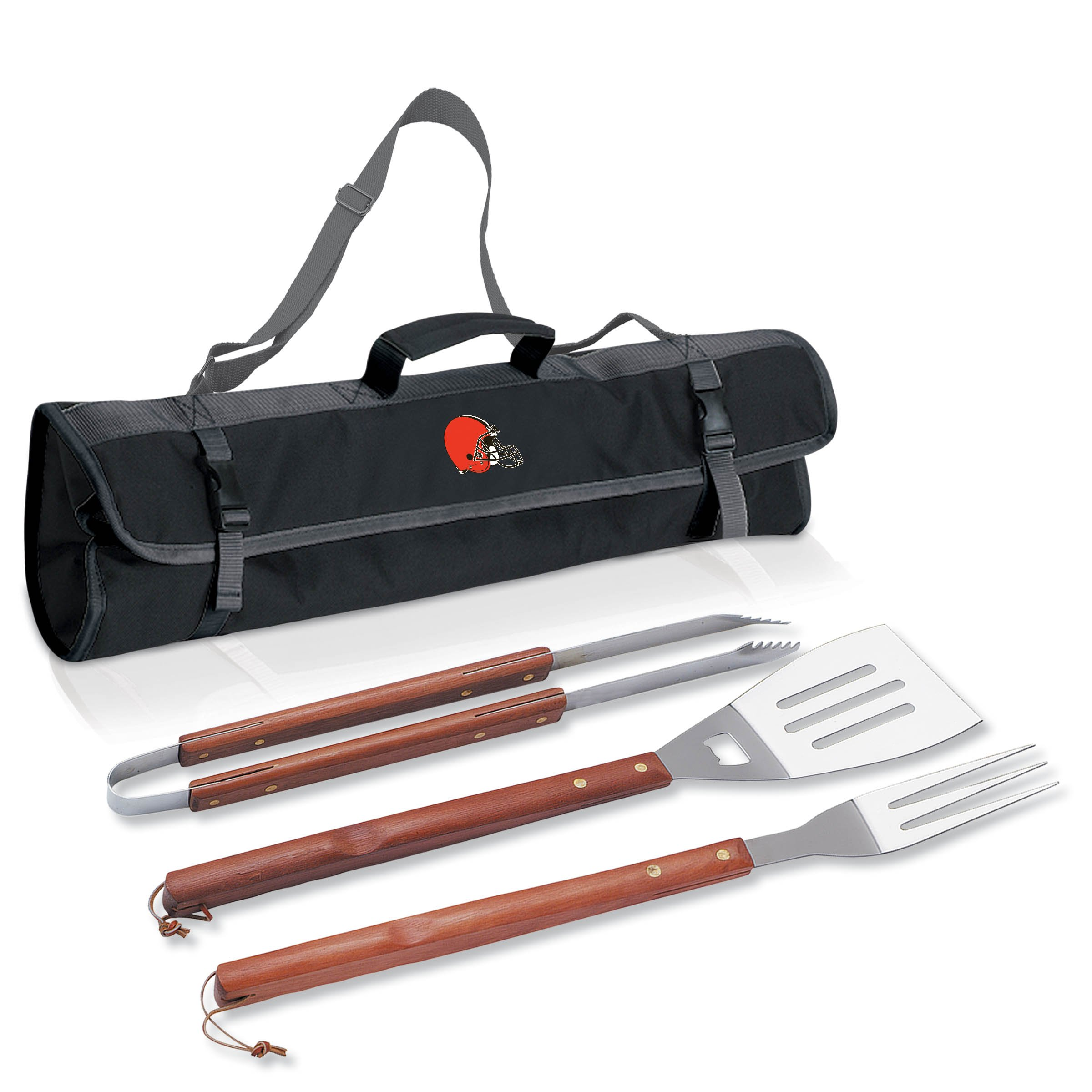 PICNIC TIME NFL Cleveland Browns 3-Piece BBQ Tool Tote