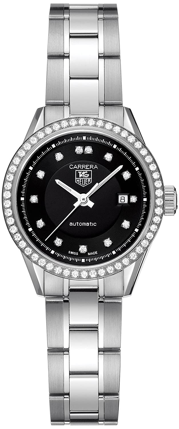 8861ce8e7aff Amazon.com  TAG Heuer Women s WV2412.BA0793 Carrera Diamond Accented  Stainless Steel Watch  Tag Heuer  Watches