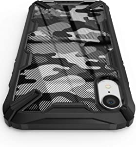"Ringke Compatible with iPhone XR Case, Fusion X Design Trendy Unique DDP Protective Case Cover for iPhone XR (6.1"") - Camo Black"
