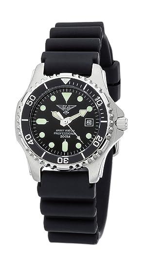 mitad de descuento 0c0a0 9a46f Army Watch Sport by Eichmüller - Reloj de Buceo con correa de PU 20 atm  (200 m resistente al agua) EP880