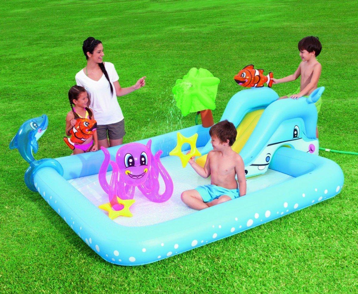 Kinderpool Play Center FANTASTIC AQUARIUM 53052B - Baby Pool - Schwimmingpool - Kinderplanschbecken - Kinderspielpool