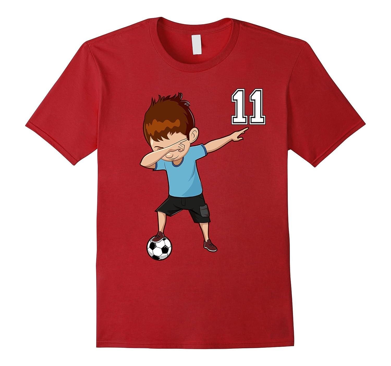 #11 Soccer Shirt Boys Funny Dabbing Dab Dance Soccer Ball-Art