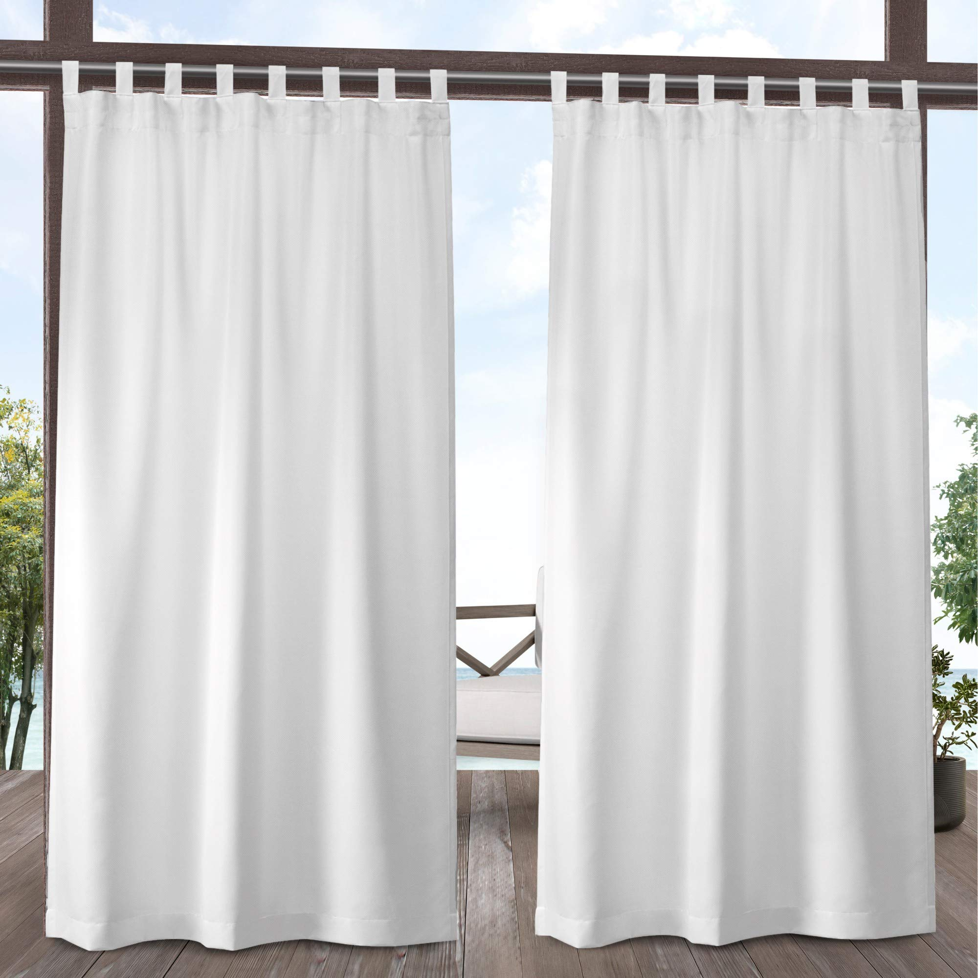 Exclusive Home Curtains Indoor/Outdoor Solid Panel Pair, 54x84, Winter White