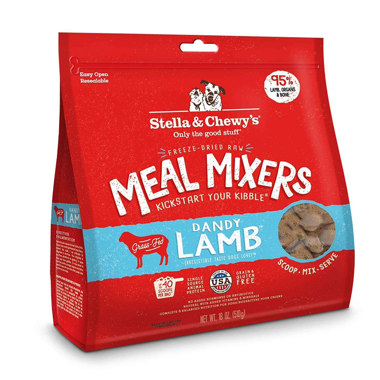 Stella & Chewy's 1 Pouch Freeze Dried Super Meal Mixers, Lamb, 36 Ounce by Stella & Chewy's