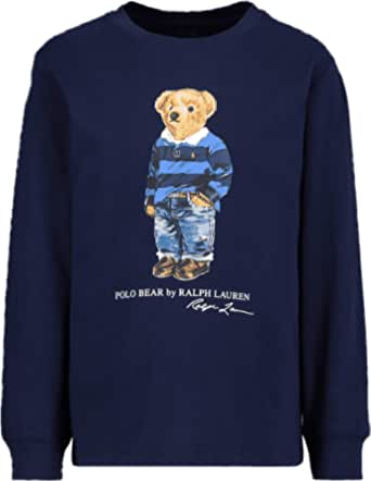 Polo Ralph Lauren - Camiseta Manga Larga Azul Oso ...