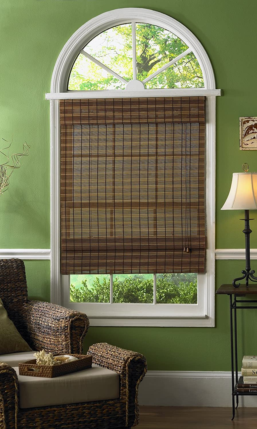 Radiance 0108339 Fruitwood Maya Roman Shade, Bamboo, 63-Inch Wide by 63-Inch Long Lewis Hyman Inc.
