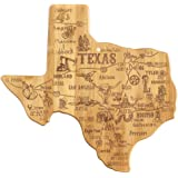 Totally Bamboo Destination Texas State Shaped Serving and Cutting Board, Includes Hang Tie for Wall Display