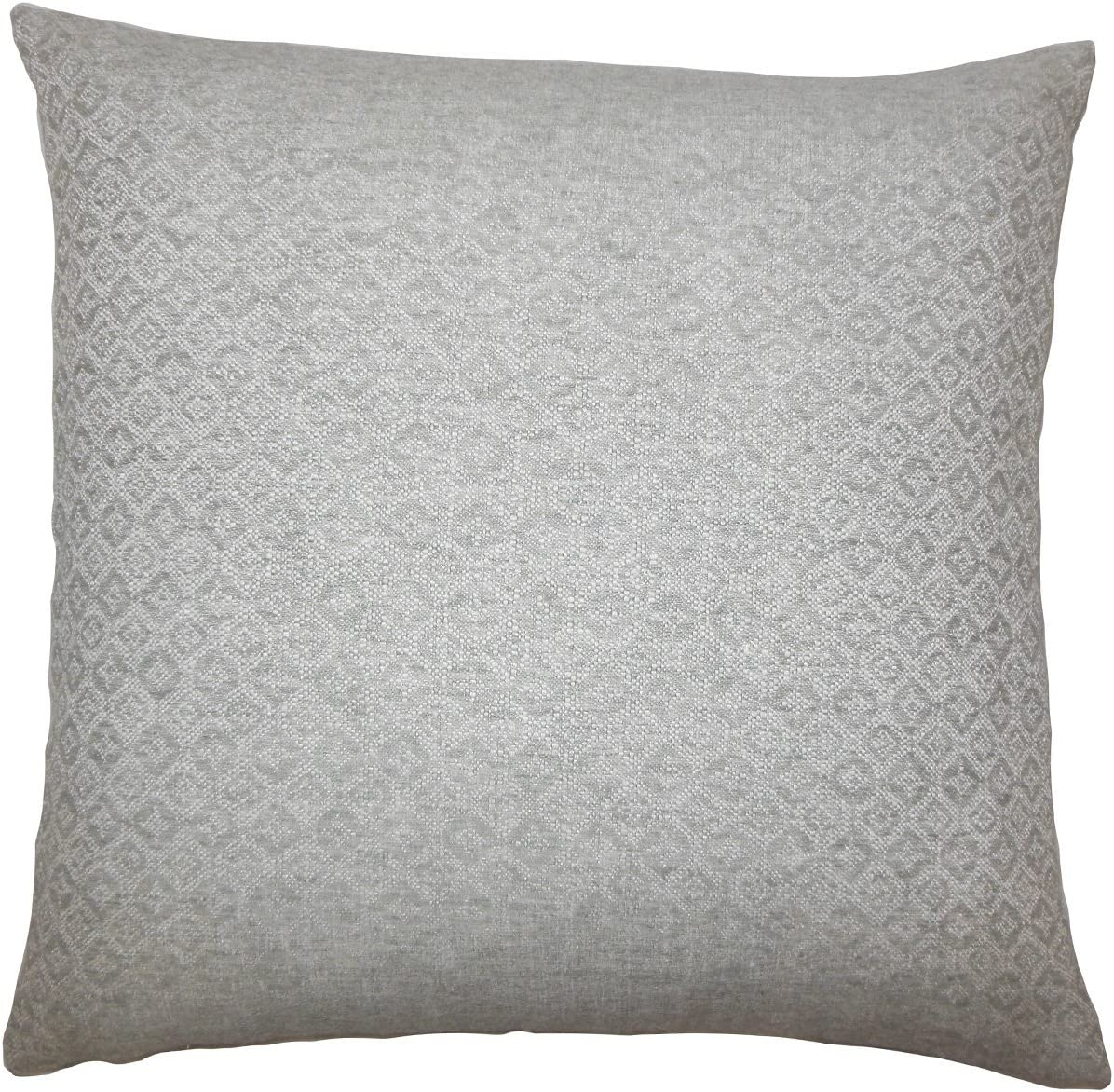 Standard//20 x 26 The Pillow Collection Caitir Geometric Bedding Sham Grey
