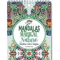 Libros Para Colorear Adultos por Colorya - Mandalas Magical Nature - Libro Colorear Adultos Premium, Sin Manchas…