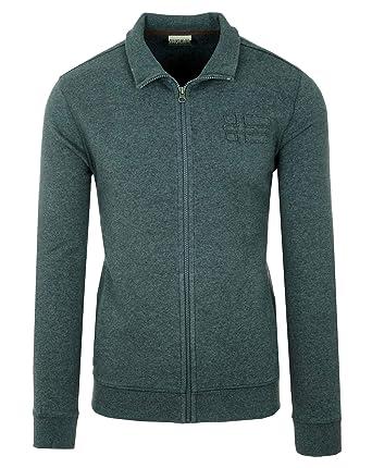 Napapijri Bechet Herren Men Sweatshirt Sweatjacke Pullover Dunkelgrau Dark  Grey (XXXL) eb6b51f2c4