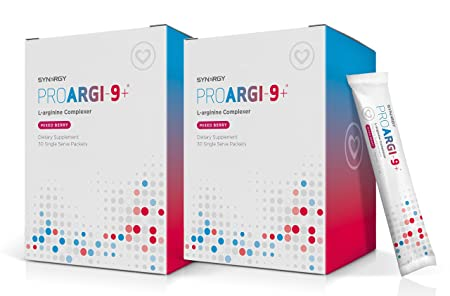 2 Boxes ProArgi-9 Plus Mixed Berry Single Serves Nitric Oxide L-Arginine Dietary Supplement with L-Citrulline for Healthy Cardiovascular Function