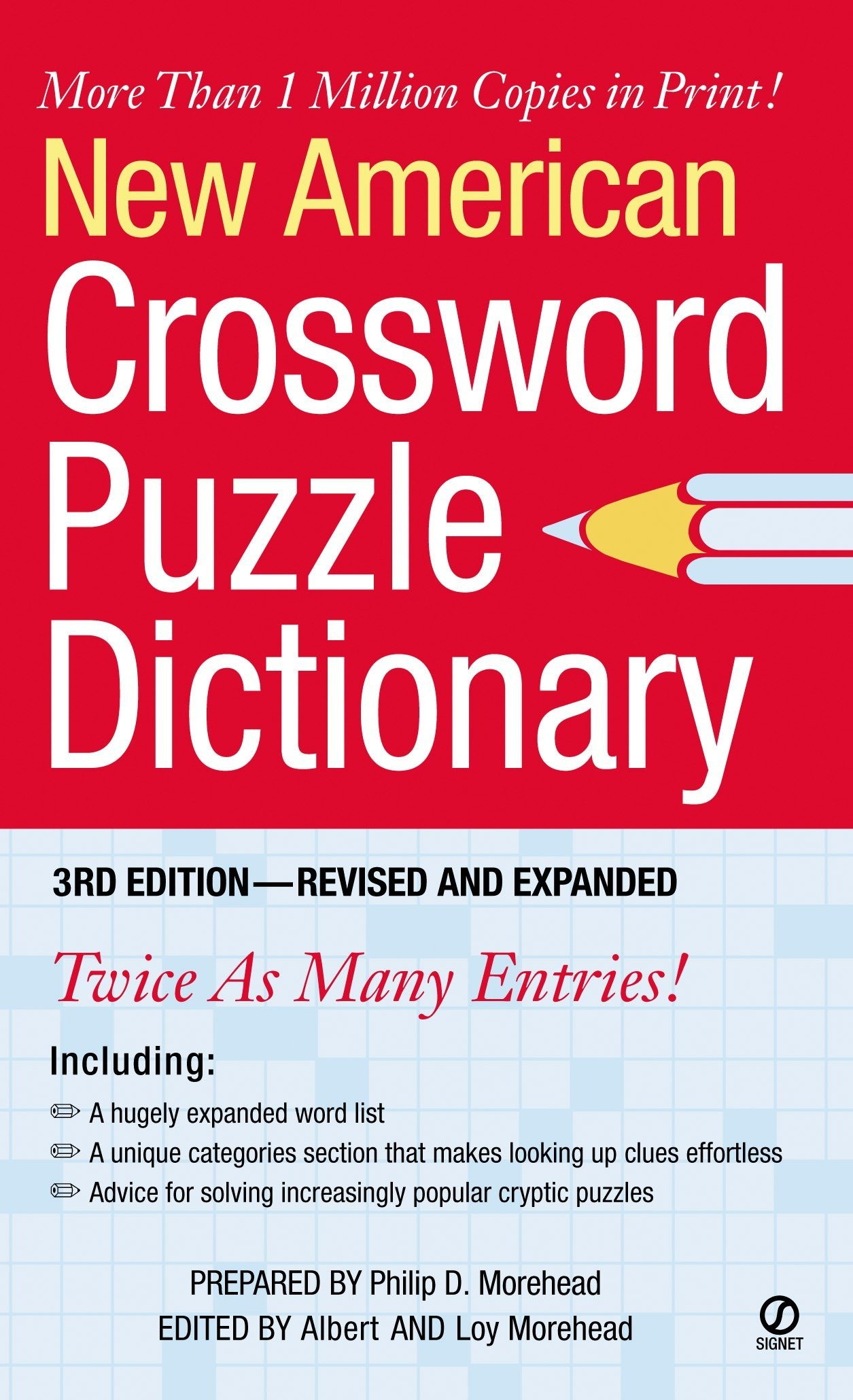 New American Crossword Puzzle Dictionary: 3rd Edition--Revised and Expanded:  Philip D. Morehead, Albert H. Morehead, Loy Morehead: 9780451212559: ...