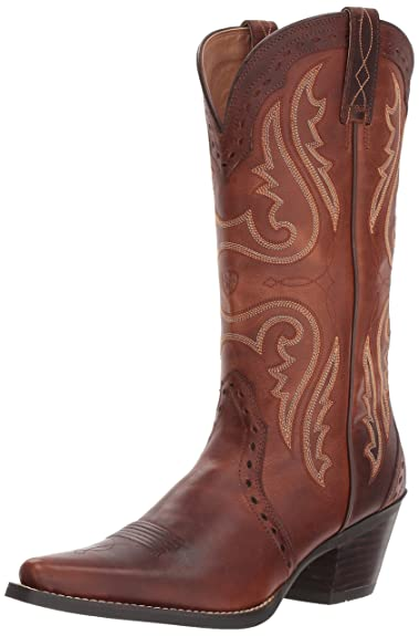 Womens Boots Extremely 91003251 Ariat Heritage Western X Toe Wingtip Golden Tan Full Grain Leather