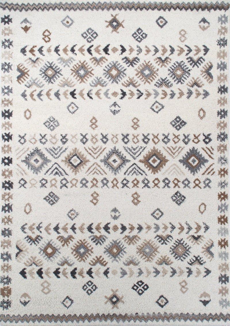 Theko Hochwertiger handgewebter Berberteppich aus 100% Reiner Schurwolle, Größe 70 x 140 cm, Farbe Beige