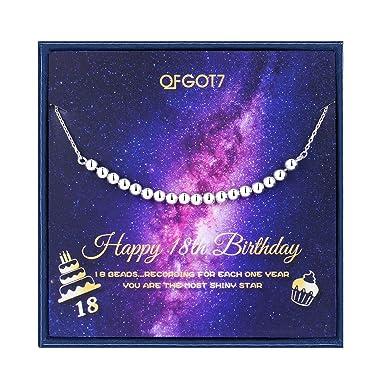 Amazon.com: Regalo de 18 cumpleaños para niñas, collar de 18 ...