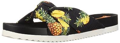 Women's Loving Pineapple Pen Fabric Slide Sandal