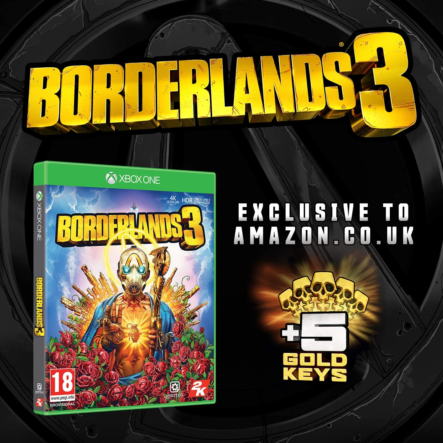 Borderlands 3 with 5 Gold Keys DLC (Exclusive to Amazon.co.uk ...