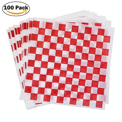 amazon com red check dry wax paper deli wrap and basket liner